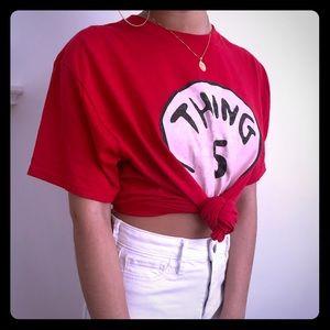 """Oversized """"Thing 5"""" Graphic tee shirt"""